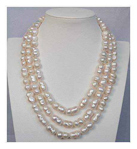 YUANYUAN520 Collar de la Calabaza Hermosa Blanco Natural Joyería (Main Stone Color : White)