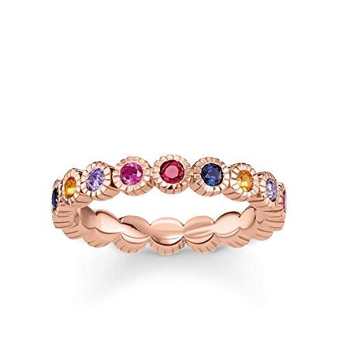 Thomas Sabo Damen-Ringe 925 Sterling Silber Künstliche Perle '- Ringgröße 58 (18.5) TR2148-068-7-58