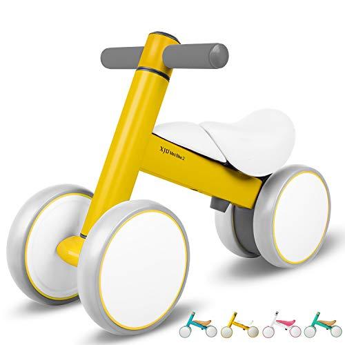 XJD Bicicleta de Equilibrio para Bebés 10-36 Meses sin Pedales con 4 Ruedas Ultraligera y Primera Bicicleta de Juguete para Niños Pequeños