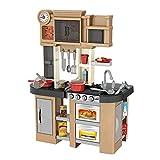 UFLIZOGH Cocina de Juguete Infantil, Set de Juguetes de Cocina para Niños de 3 Años Incluye 58 Accesorios Juguete de imitación (Gris)