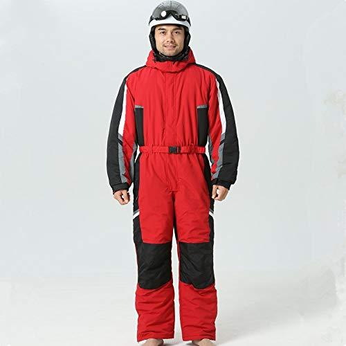 YIEBAI Winter Männer Outdoor Ski Jumpsuits Thermisch wasserdicht Winddicht Ski Anzüge männlich Snowboard Snowsuit Warme Kleidung,red,165-170 cm