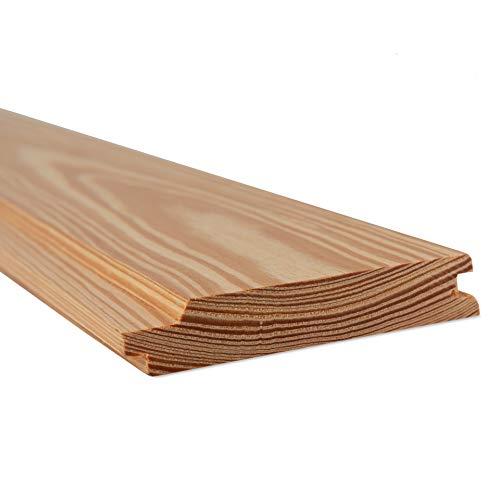 Holtaz Fassadenbekleidung Fassadentafel natürliches Lärchenholz Verkleidung Schalung Täfelung aus Holz Brett größe 2400x116x20 mm Naturbelassen 38 Bretter = 10,03 m2