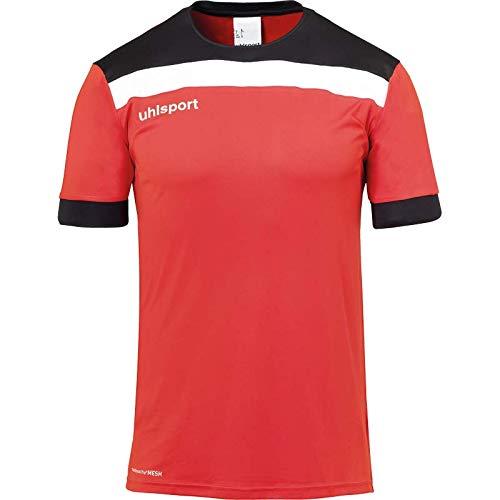 uhlsport Offense 23 Shirt Shortsleeved Vêtements de Football Homme, Rouge/Noir/Blanc, M