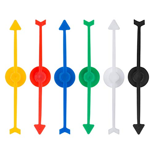 LEMESO 24 piezas Flecha Girar para Juegos, Flecha de Flecha de Spinner de Plástico para Juegos de Tablero, Juegos Educativos Flecha de Colores
