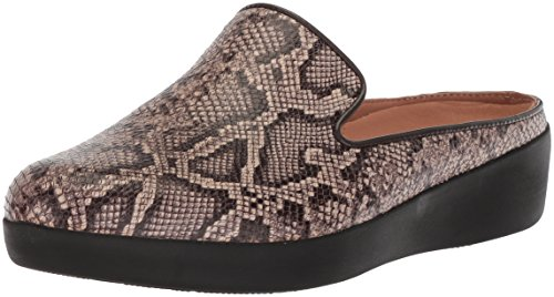 FitFlop Women's Superskate Slip-ON Mule Sneaker, Taupe Snake, 10 M US