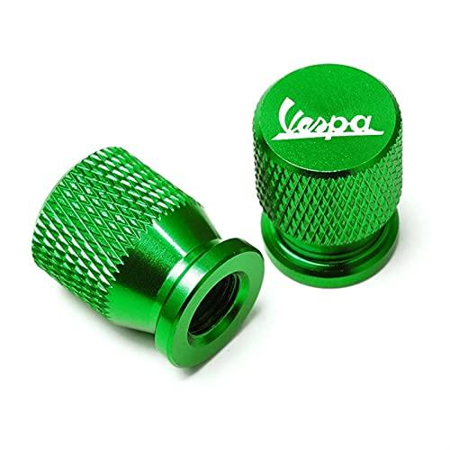 CNC para Piaggio Vespa GTS GTV LX 60 125 250 300 Primavera Sprint CNC Accesorios de motocicleta Rueda Neumático Tapa de válvula Puerto de aire Cubierta de vástago (Color: Verde)