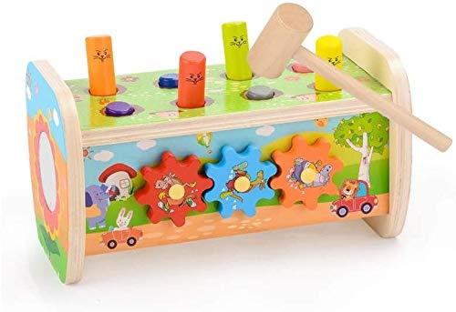 Mopoq Spielen Hamster Säuglingskinder Große Puzzle-Entwicklung-Baby-Mädchen-hölzernes Spielzeug 12.9x13.4x23.8cm Kinder pädagogisches Spielzeug