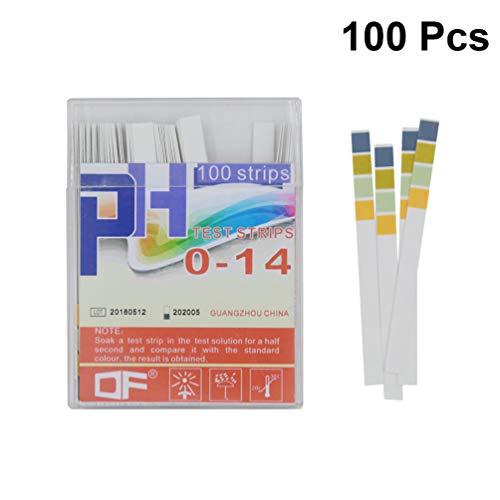 POPETPOP 100pcs Aquarium ph Testpapier präzise 4-farbige Kontraste alkalische und säurehaltige Papierfischtank Prüfung pH-Streifen