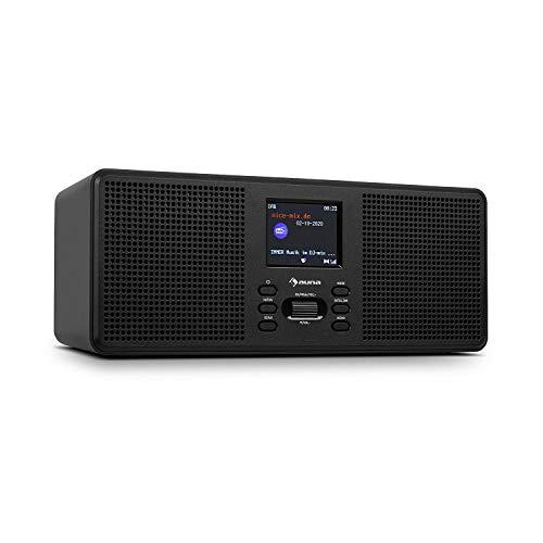 auna Commuter ST Dab+/FM Radio Digital - Bluetooth, Dab+ y FM, Pantalla en Color TFT de 2.4', Altavoces estéreo, Ecualizador predeterminado, Doble Alarma, autoapagado, 28 x 11 x 10 cm, Negro