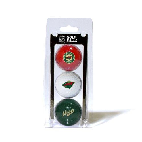 Team Golf NHL Golfbälle, Standardgröße, 3er-Pack, vollfarbig, strapazierfähig, Team-Aufdruck, Unisex-Erwachsene, 14305, Multi, Einheitsgröße