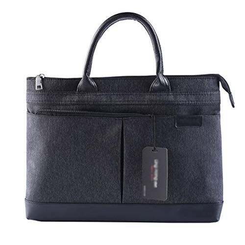 Getrichar Portable Business Briefcase Large-capacity Zipper Men's and Women's Meeting Bags Can Be Customized (Color : Photo color, Size : 40 * 29cm)