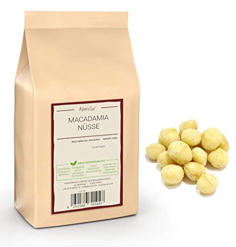 1kg Macadamianüsse natur - ganze Macadamia Nüsse ohne Schale der Klasse 1L – Macadamia-Nüsse roh und ungesalzen