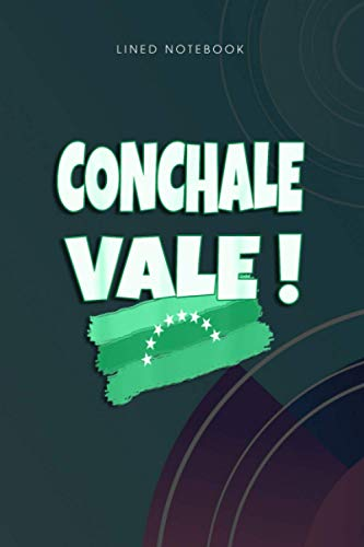 Lined Notebook Conchale Vale Franelas Frase Venezolana Camisetas Venezuela: Wedding, Monthly, To...