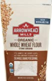 Arrowhead Mills Organic Stone Ground Whole Wheat Flour, 22 oz. Bag (Pack of 6)