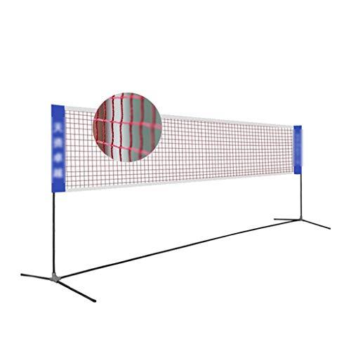 Netze & Garnituren Badminton Badmintonnetz einfaches Klappgestell tragbares Volleyballnetz Sport- und Fitnessgeräte Tennisregal Platznetz Blockiergestell (Color : Black, Size : 410 * 155cm)
