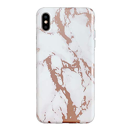 Oihxse Compatible para iPhone 7 Plus/iPhone 8 Plus Funda de Mármol Cristal Patrón Suave Silicona TPU Flexible Gel Protectora Carcasa Ultra Fina Anti Choque Protección Cubierta Caja (Arbol)