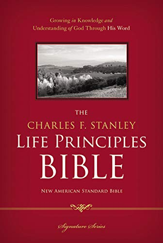 Compare Textbook Prices for NASB, The Charles F. Stanley Life Principles Bible, Hardcover: Holy Bible, New American Standard Bible Illustrated Edition ISBN 9781418550325 by Thomas Nelson,Stanley, Charles F.