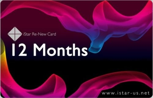 12 Month iStar ReNew Card User Code Subscription اشتراك لمدة سنة
