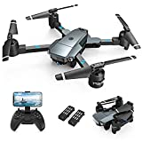 Snaptaⅰn A15H Foldable Drone with 1080P HD Camera FPV WiFi RC Quadcopter for Beginners, Optical Flow Positioning, Voice Control, Gesture Control, Trajectory Flight, Circle Fly, G-Sensor