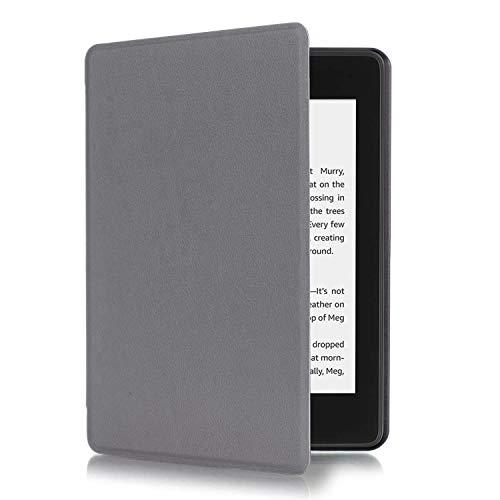 Amazon Brand - Eono Custodia in Pelle PU per Kindle Paperwhite (10a Generazione Solo 2018 di Rilascio), Case Cover con Sonno/Sveglia la Funzione Compatibile con Kindle Paperwhite 2018, Grey