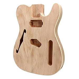 BASDW DIY E-Gitarre Mahagoni Holz Body Thinline Style Körperteil Single F Loch BASDW