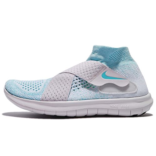 NIKE Womens Free RN Motion Flykknit 2017 Running Trainers 880846 Sneakers Shoes (UK 6 US 8.5 EU 40, Glacier Blue Polarized Blue 402)