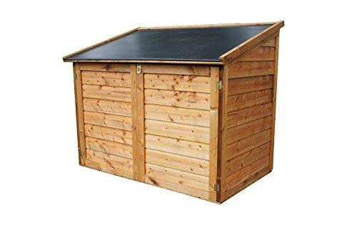 Chalet et jardin 05-703544 Coffre de Rangement pour Jardin Bois + Toit résine 1200 L Trocadéro