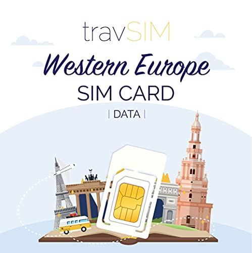 travSIM - Tarjeta SIM Prepaga Europeo Occidental(SIM de Datos para-Europeo Occidental) -...