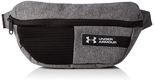 Under Armour UA Waist Bag, Marsupio Unisex Adulto, Grigio (Graphite Medium Heather/Black/White), Taglia unica