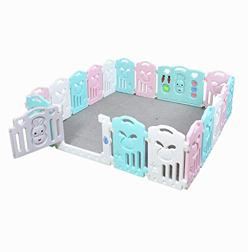 Best Buy! Baby Fence Including Fun Activity Panel and Soft Foam Play Mat Jigsaw with Transportation ...