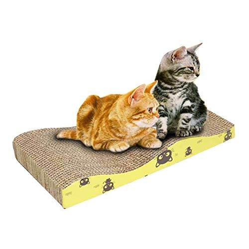 QUUY Rascador para Gatos de cartón Ondulado, Resistente cojín para Gatos para Descansar, Garras, Jugar, para Evitar arañazos en Muebles