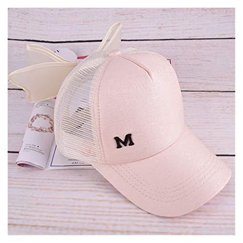 JSJJAER Sombrero de Sol Gorra de béisbol de Bowknot Grande para niña Sombrero Rosa para Las Mujeres Verano Adulto Cápsulas de Arco Snapback Hip Hop Caps con una Visera Recta Esenciales de Viaje