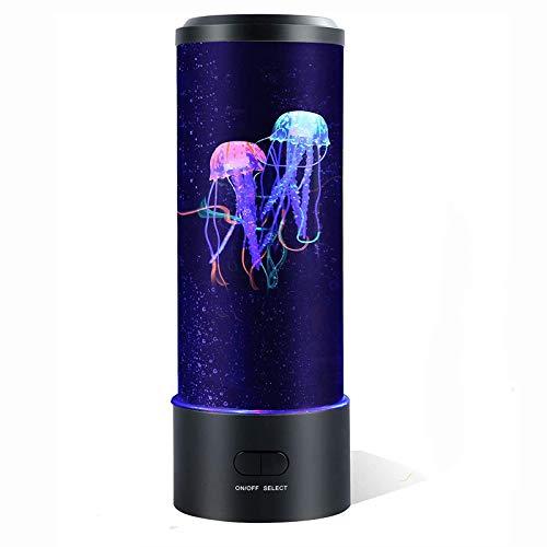 Starsmyy Lámpara De Acuario De Medusas Lámpara De Medusas De Fantasía Que Cambia De Color Regalo De Luz De Humor Luz De Noche Enchufe USB para Niños Hombres Mujeres Decoración del Hogar