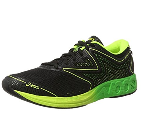 Asics Noosa FF - Laufschuhe Herren T722N-9085 (44,5, 9085 BLACK/GREEN GECKO/SAFETY YELLOW)