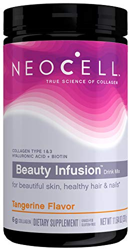 NeoCell Beauty Infusion Powder, Collagen Type 1 & 3, Tangerine, 11.64 Ounces (Package May Vary)