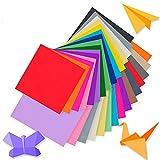 TRITART Papel origami para manualidades – 220 hojas 80 gr/m2 de papel de colores para papiroflexia (50 colores) – 110 hojas 15x15 cm, 110 hojas 10x10 cm – incluye 100 ojos móviles