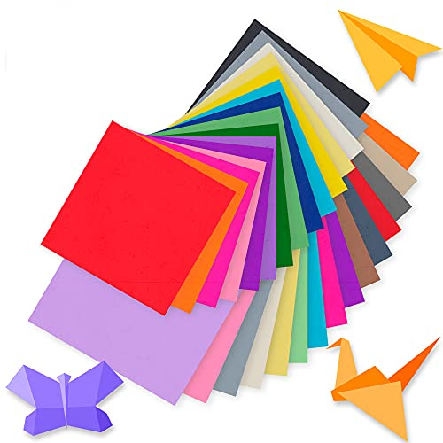 TRITART Papier origami - 220 feuilles Pliable en 50 couleurs - 15x15 cm , 10x10 cm I 80 g , m² I 110 feuilles de chaque format - Papier Coloré - Kit Activités Manuelles - Pour Enfant et Adulte