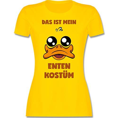 Karneval & Fasching - Das ist Mein Enten Kostüm - S - Gelb - Enten t-Shirt Karneval - L191 - Tailliertes Tshirt für Damen und Frauen T-Shirt