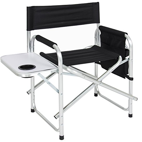 Best Choice Products Folding Camping Director's Chair w/Side Table, Cup Holder, Storage Pouch