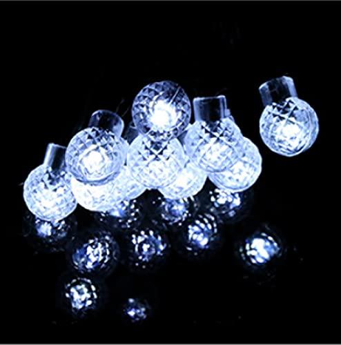 8 Patrones 100LED Luz de bola de piña Luces de cadena solares Luces de decoración del día de Navidad Luces de bola solar de patio al aire libre D