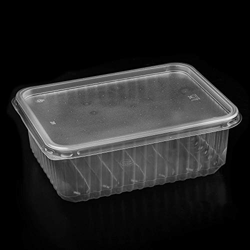Lot de boîtes à salade jetables en polypropylène 500ml, 1000 ml
