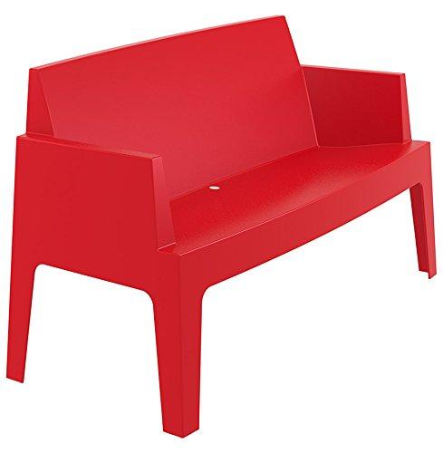 Alterego - Banc de jardin 'PLEMO XL' rouge en matière plastique