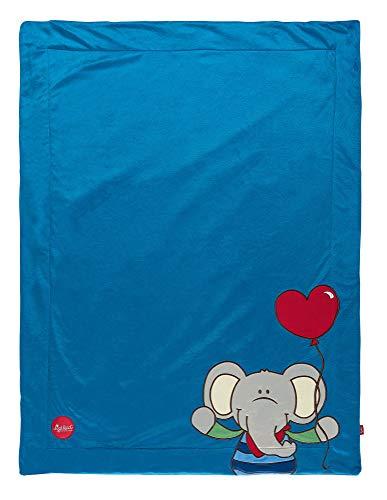 sigikid, 41557 Enfant Garçon Couverture Microfibre 100x75 cm, Lolo Lombardo Bleu