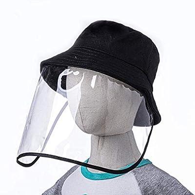 Men Women Safety Protective Hat, Detachable Anti-Spitting Anti Fog Dustproof Cover Fisherman Cap Outdoor Beach Sun Hat Clear Visor