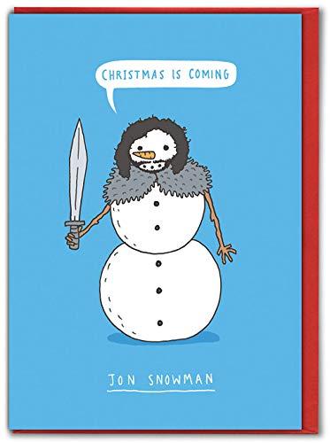 Brainbox Candy – Tarjetas de Navidad divertidas – Tarjetas de Navidad divertidas para amigos – Jon Snowman'...