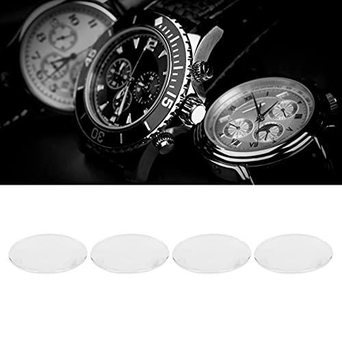 Caja de reloj, gafas de reloj de cristal de zafiro de 30 mm a 31,5 mm redondo para laboratorio para experimentos científicos para trabajadores de reparación de relojes para relojeros