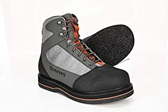Simms Tributary Felt Sole Wading Boots Adult, Felt Bottom Fishing Boots, Striker Grey, 8