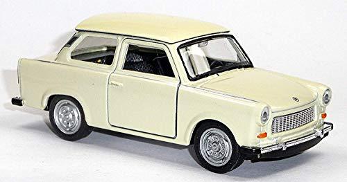 Bavaria Home Style Collection Trabant Modellauto mit Rückzugmotor Limousine | Modell Trabi |Trabbi - 601| DDR-Kult Freiwählbar | Geschenk Idee Geburtstag, Ostern, Weihnachten, Vatertag (Trabi Beige)