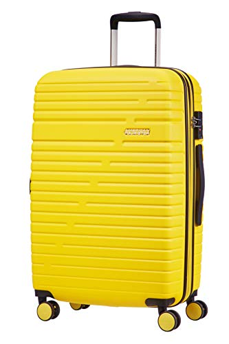 American Tourister Aero Racer Spinner 68 Expandable - 3.6 Kg Bagaglio a Mano 75.5 Liters, Giallo (Lemon Yellow)