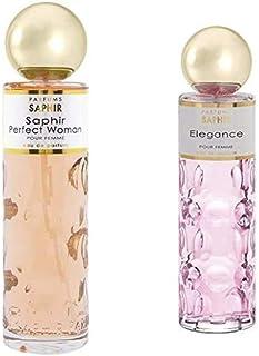 PARFUMS SAPHIR Perfect Woman Eau de Parfum con vaporizador para Mujer 200 ml + Elegance, Eau de Parfum con vaporizador par...